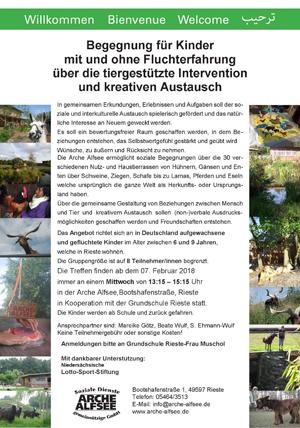 Flyer Begegnung Arche Alfsee