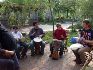 5-Tage-Gruppe: Musiksession